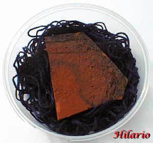Laine et morceau de terre cuite